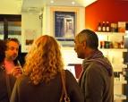 qualche chiacchera con l'autore dopo la serata (2012 © Luca Marangon)